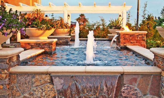 Premier pools spas of los angeles palm springs pool - Palm springs swimming pool contractors ...