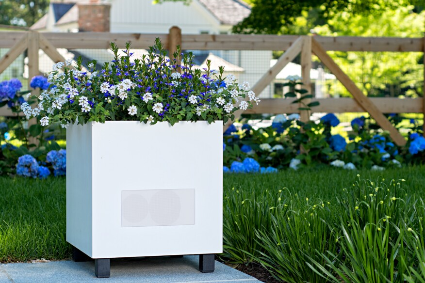 Outdoor Planter Speakers Planterspeakers offers new metropolitan design in outdoor speaker the metropolitan is a planter and architectural speaker featuring a clean modern design its weather resistant and comes with a removable tray to fit real workwithnaturefo