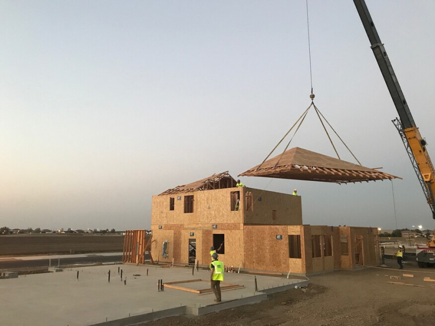 Los Banos, Calif.: From off-site to on-site, precision, high-velocity framing depends on a precisely engineered site to create a level base.