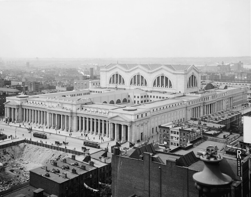 The old Penn Station circa the 1910s