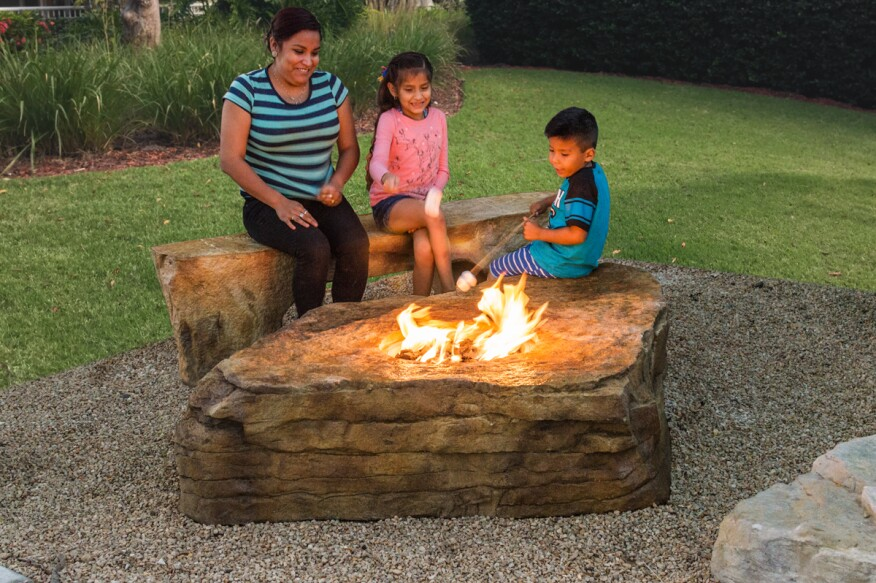Waterfall Creations New Boulder Firepit Is Designed Plug N Play