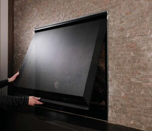 Linear Fireplaces Trend Up Even Behind Barrier Screens Remodeling Fireplaces Interiors