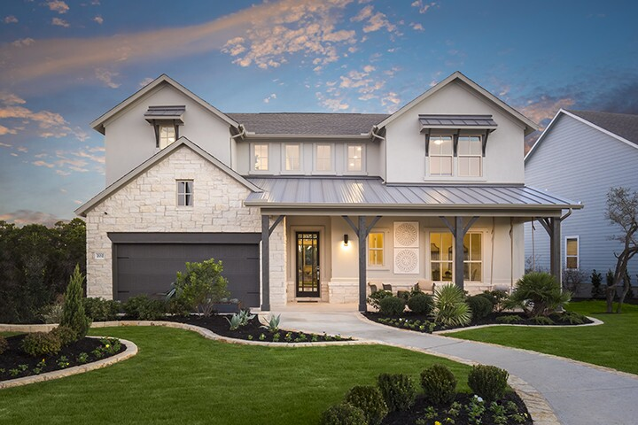 Trendmaker Homes Model Home At Headwaters In Austin Texas