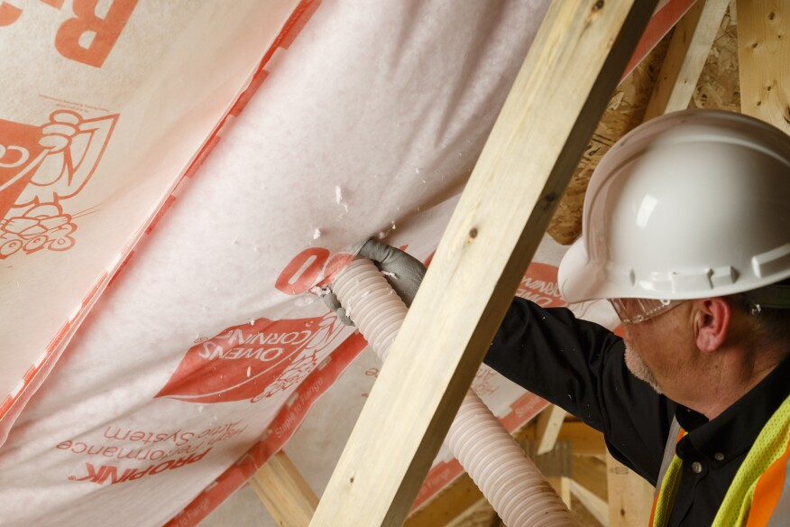 Fowler recommended the Owens Corning High Performance Conditioned Attic system as an alternative to draped cellulose.