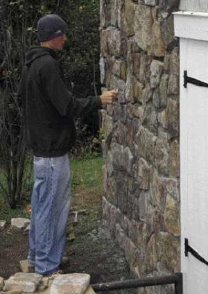 Installing Manufactured Stone Over Icfs Jlc Online Formwork Stone Veneers Concrete