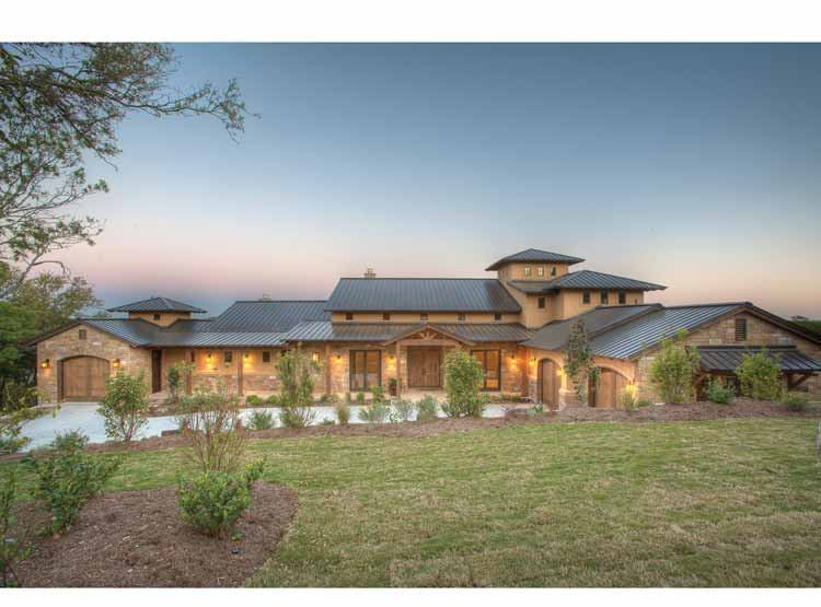 FourPlans: Hot Hill Country Style from Hobbs' Ink | Builder ... on one level victorian house plans, one level colonial house plans, english cottage house plans, log home plans, one level townhome plans,