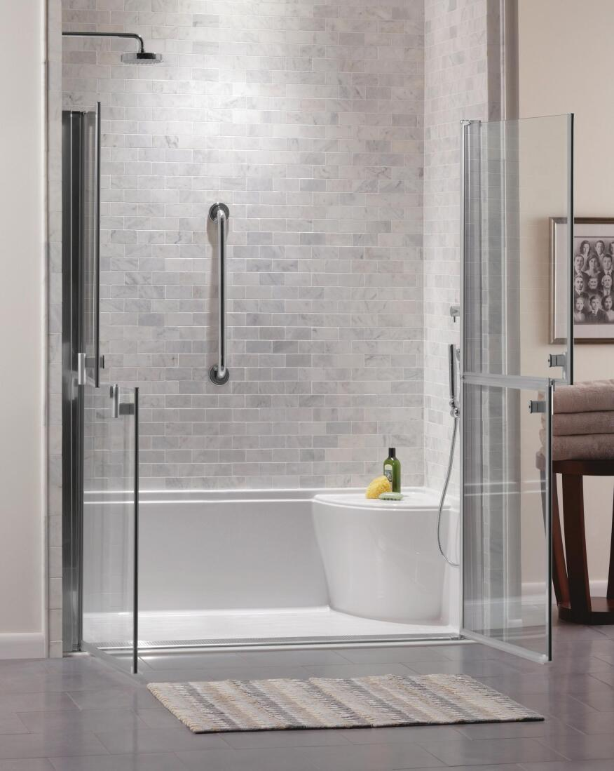All access pass showers remodeling bath design kitchen aging in place cost effective for Cost effective bathroom renovations