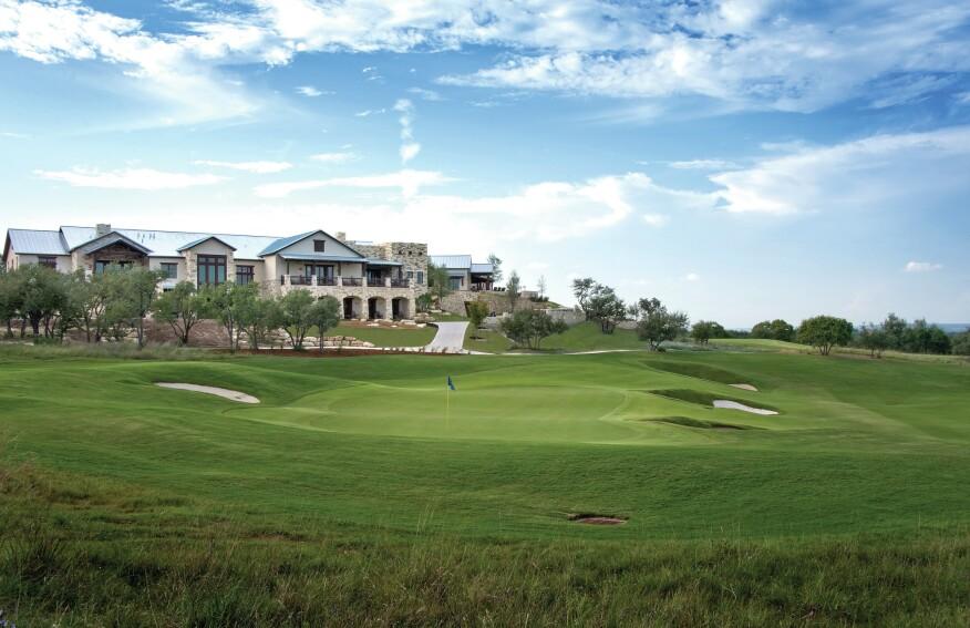 The clubhouse at Cordillera Ranch Golf Club near San Antonio, Texas