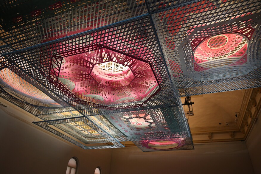 washington s renwick gallery introduces ceiling suspended parallax
