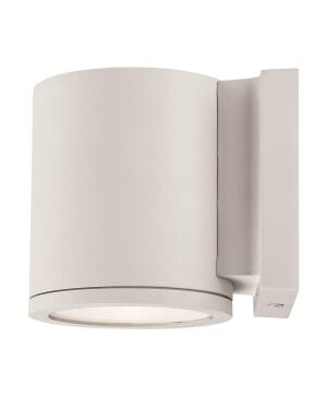 This Cylindrical Led Wall Sconce Uses 18w Has A Lumen Output Of 875 Color Temperature 3000k And Cri 82 It Measures 4 1 2 Wide By 5 Tall