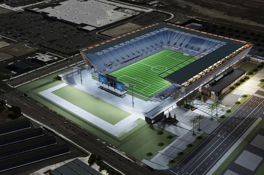 Avaya stadium architect magazine hok san jose ca for Mercedes benz stadium layout