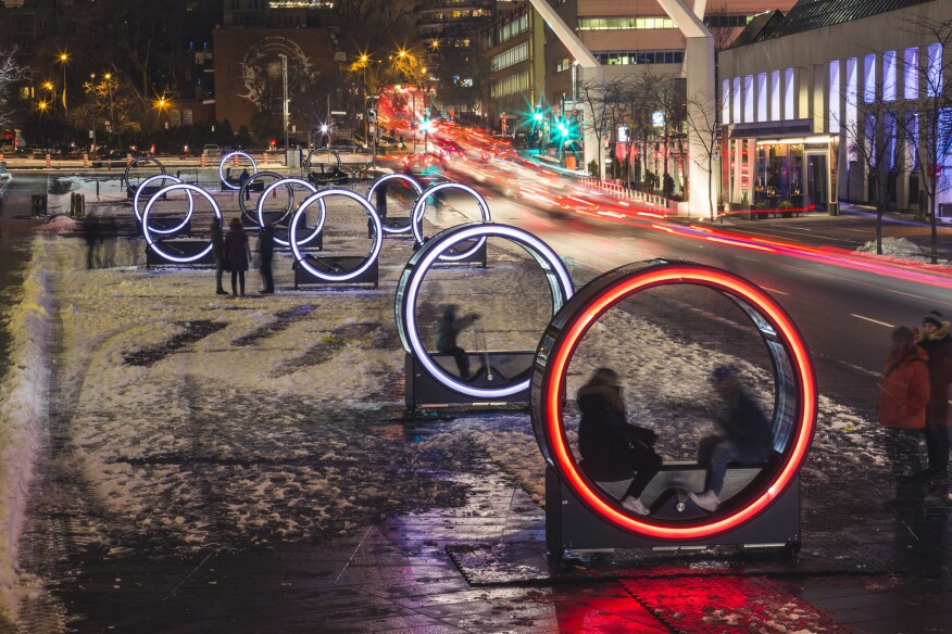 Loop Installation Lights Up Montreal S
