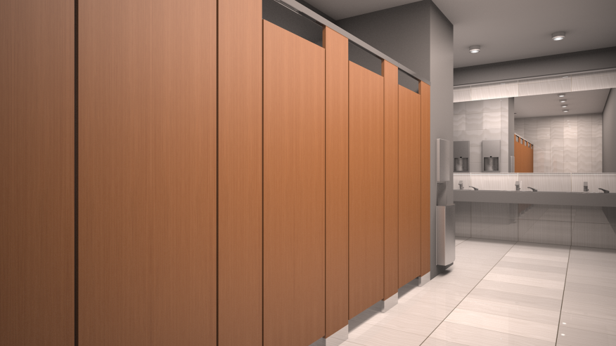 How To Choose A Toilet Partition Material Architect Magazine - Bathroom partition design