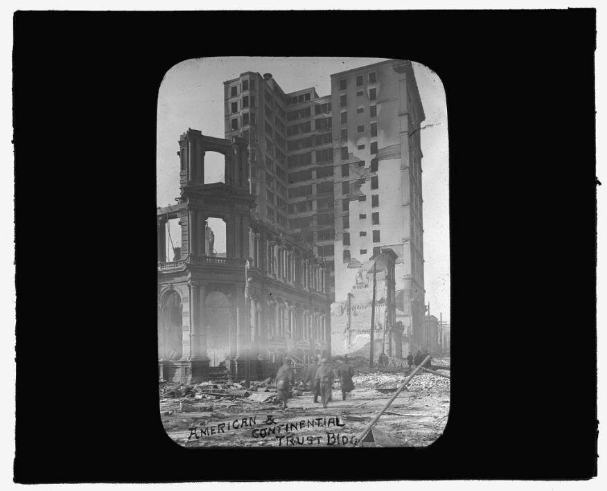 Le Continental Trust Building après l'incendie de 1904