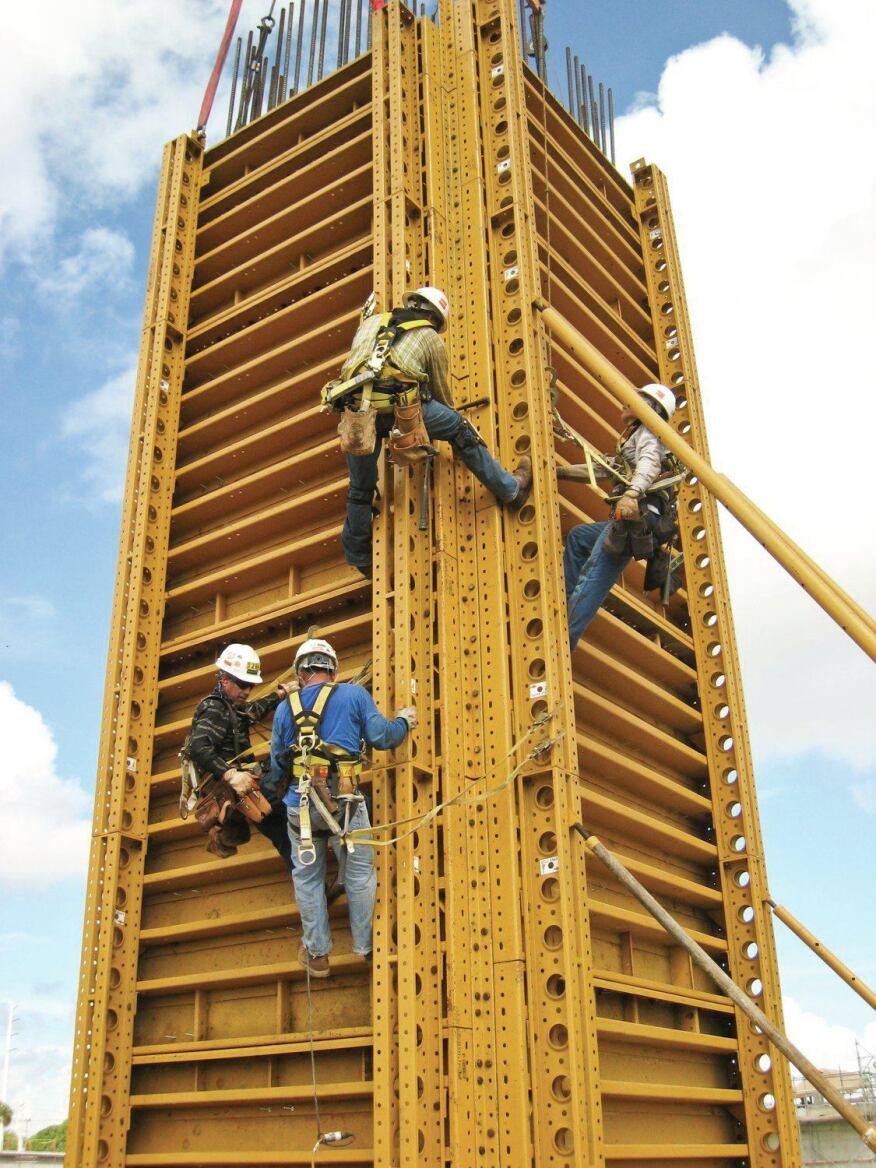 Concrete formwork at cape canaveral construction