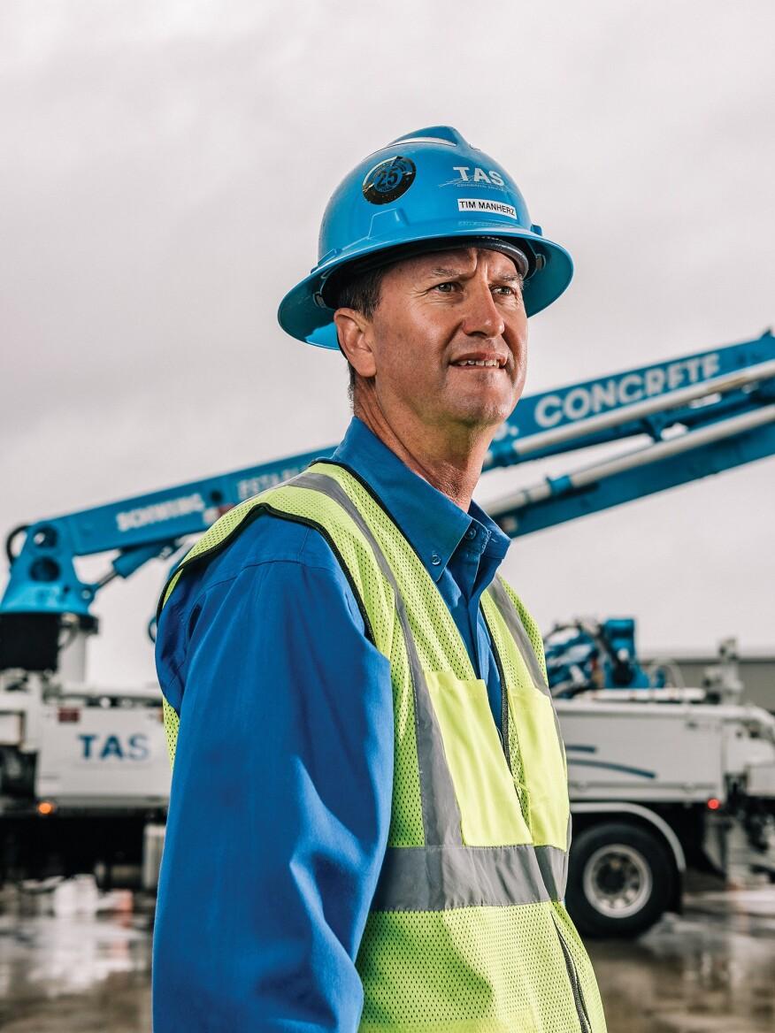 Tim Manherz,休斯敦TAS商业混凝土业务高级副总裁。