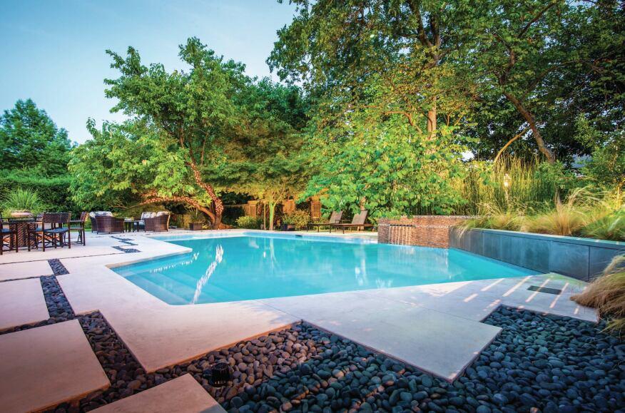 Zen style re birth makes for award winning pool pool for Zen pool design