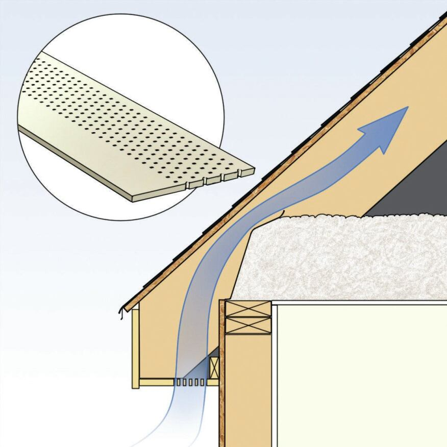 Venturi Roof Vents : Installing eave and ridge vents builder magazine