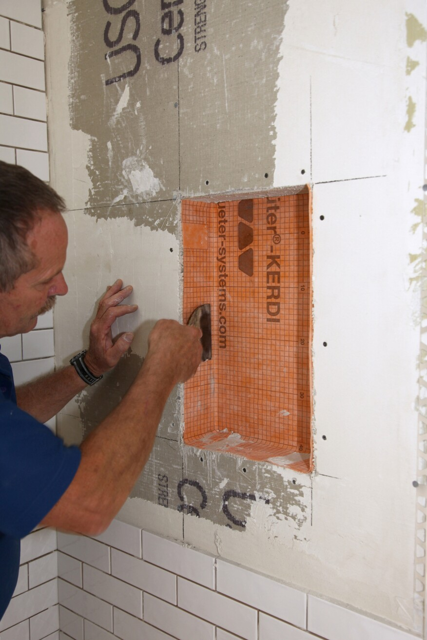 Tiling a Shower Niche | JLC Online | Tile, Shower