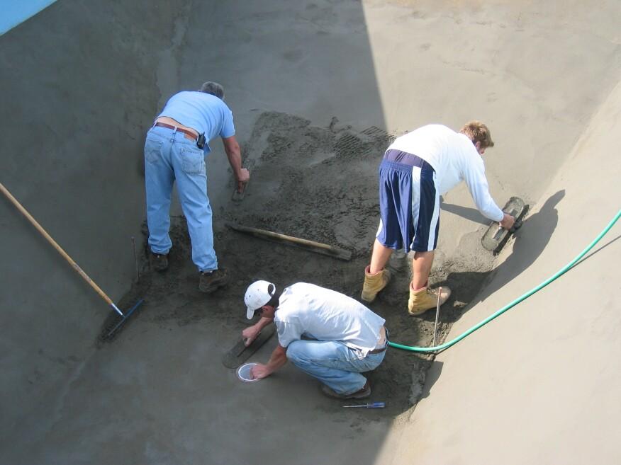 Concrete Or Vermiculite For Vinyl Liner Pools Pool
