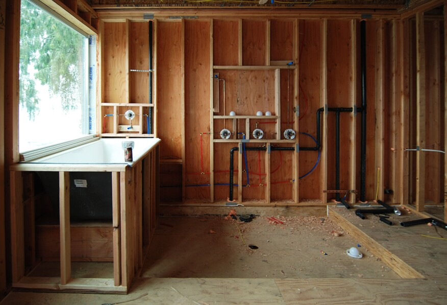 ... for sawn lumber or 11-7/8 for TJIs) are a typical application with  floor framing, we find 2x8s to be well suited under the shower floor in  general.