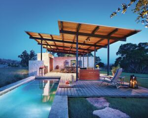 Outdoor Pool Pavilion In Texas Custom Home Magazine