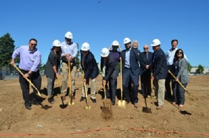 Construction is under way on the 180 West Beamer Street project in Woodland, Calif. The 80-unit development by Mercy Housing California is believed to be the first deal to close on financing that uses certificated state housing tax credits.