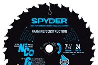 New Spyder Products Circular Saw Blades Feature Nickel Colbalt Cutting Teeth