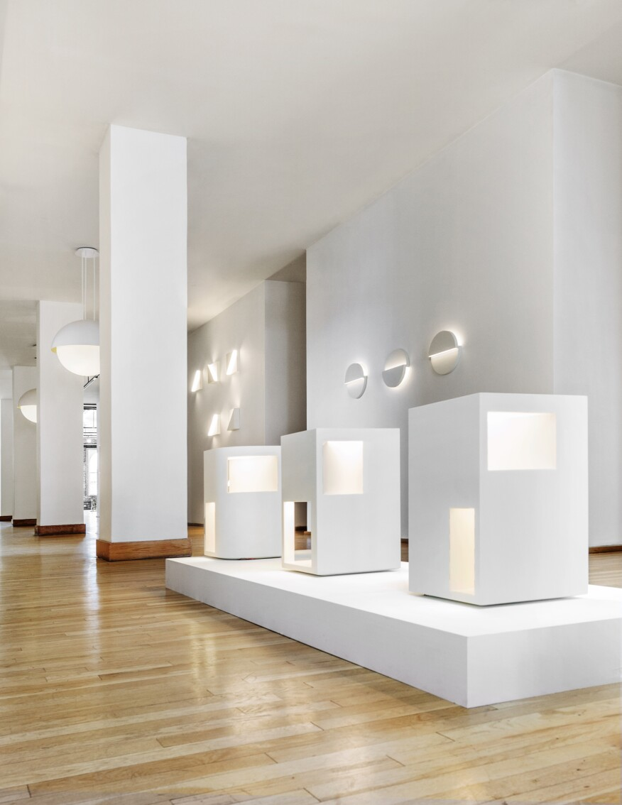 The Richard Meier Light Collection On View At Ralph Pucci Showroom In New York