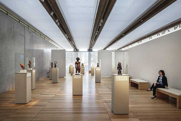 The north gallery at the new renzo piano pavilion at the kimbell art museum