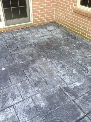 Before This Is What Hens When Stamped Concrete Improperly Installed And Maintained The