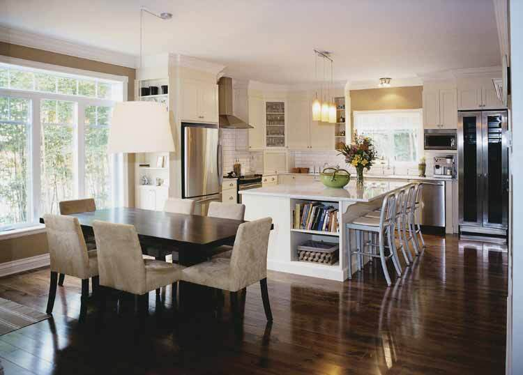 10 floor plans with great kitchens builder magazine for Great room addition off kitchen