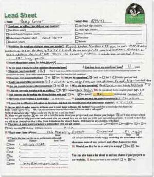 save time with a lead sheet jlc online whole house remodeling