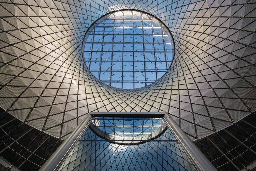 Sky Reflector Net At The Fulton Center Architectural Lighting Magazine Daylighting
