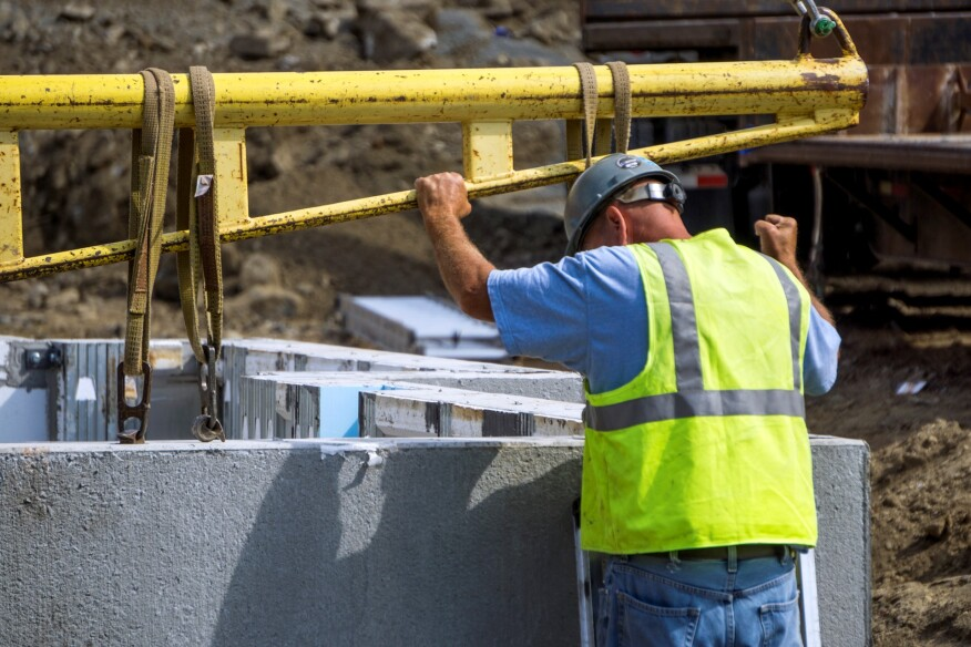 New townhomes built with efficient precast concrete for Energy efficient concrete homes