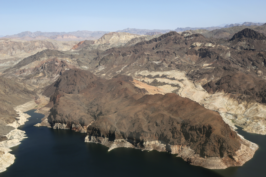 The drought that just ended in the West lasted six years and drew down the water in Nevada's Lake Mead (pictured), the largest reservoir in the U.S., to the lowest level since it was formed by the construction of the Hoover Dam in the 1930s. If we don't sharply reduce CO2 emissions, by 2100 the Southwest could face a 99 percent likelihood of Dust Bowl–intensity drought that lasts for decades.