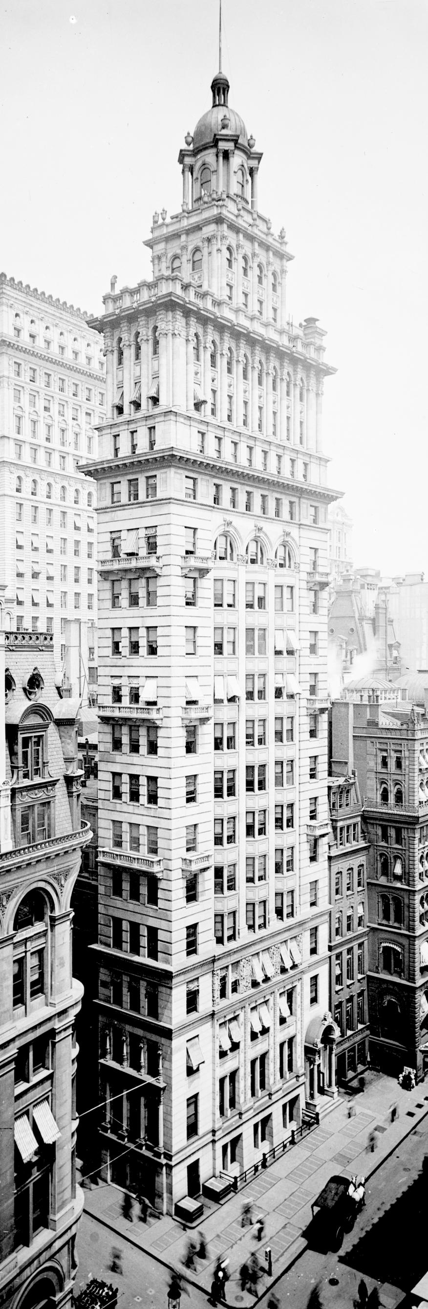 Le Gillender Building à New York, vers 1900