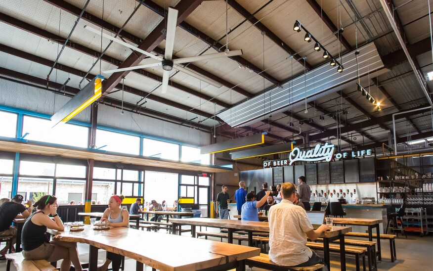 Austin Beerworks is located the in vibrant city of Austin Texas. The MacroAir fan allows the brewery to be able to serve quality beer while keeping customers cool and comfortable. Large industrial ceiling fans are a great fit for breweries!