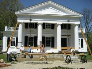 greek revival column repair jlc online porches molding millwork