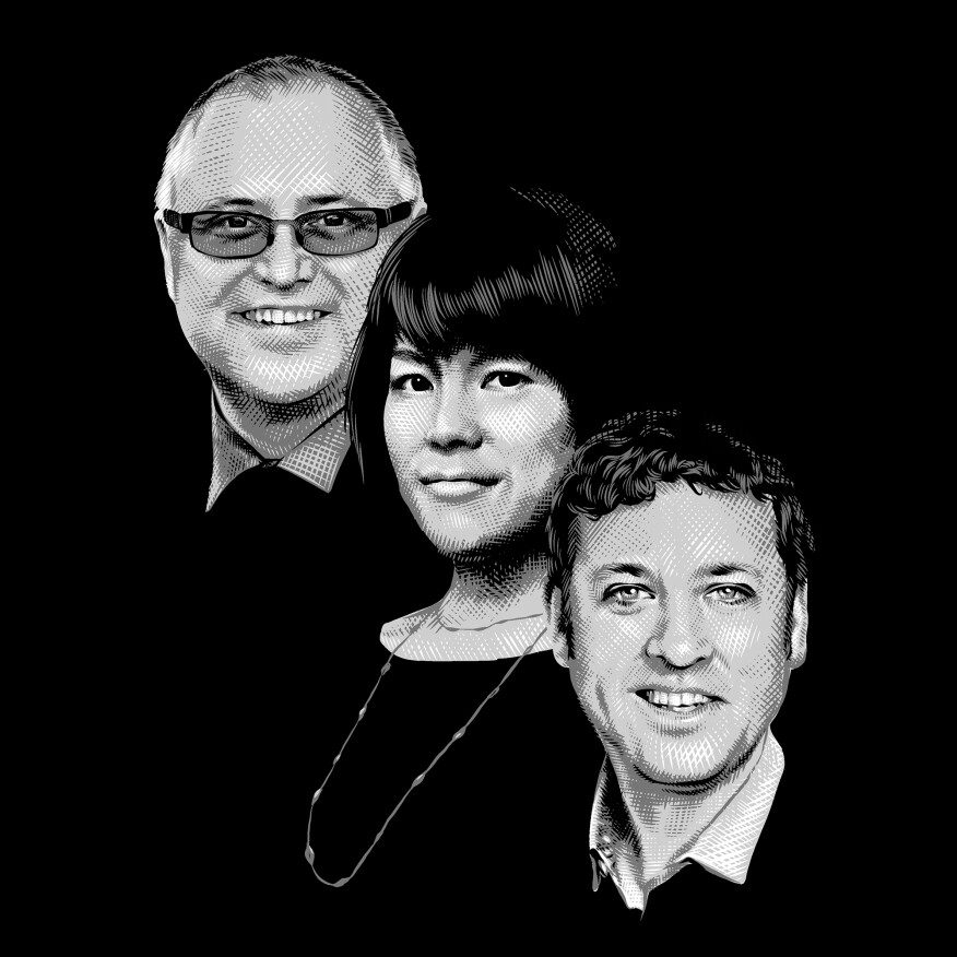 Left to right: Paul Doherty, Debra Lam, and Anthony Townsend