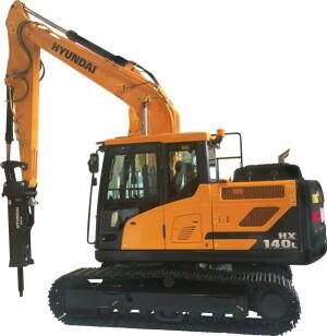 Hyundai expands excavator product line concrete construction hyundai expands excavator product line the hx140l sciox Choice Image