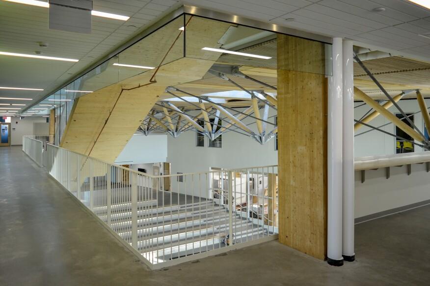 Umass Amherst Design Building Zipper Trusses Architect Magazine Education Projects Wood