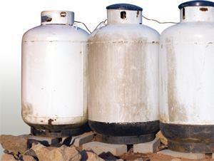 transporting 100 pound propane tank