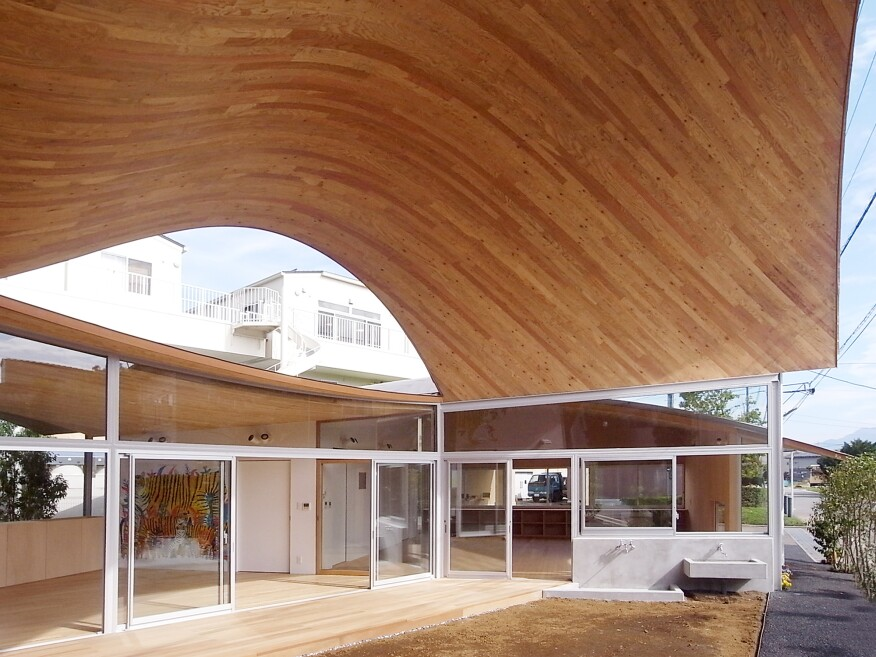 Toranoko Nursery Laminated Veneer Lumber Roof Architect Magazine