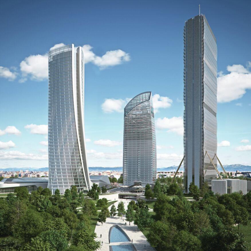 Citylife architect magazine urban development for Design render milano