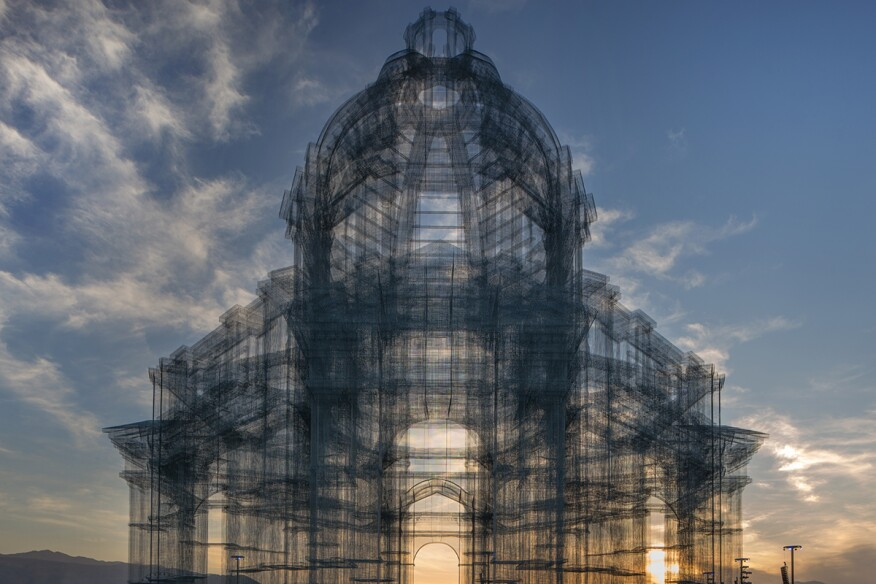 italian artist edoardo tresoldi unveils new sculptures at coachella