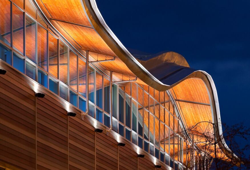 Creating A Serpentine Roof With Wood Architect Magazine