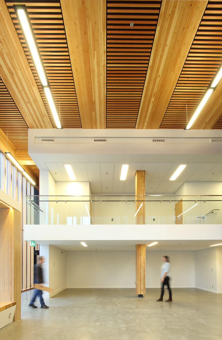 building interior - Innovative Wood Beam Ceiling