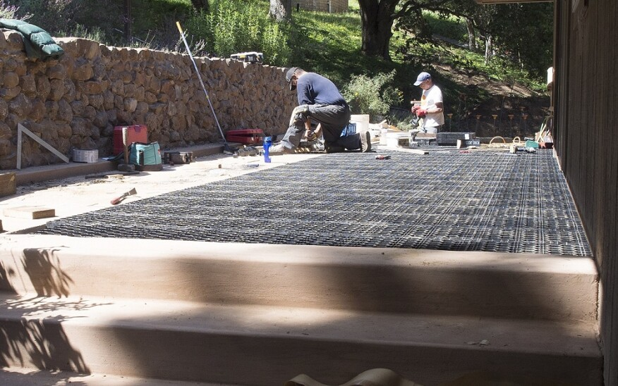 Building A Stone Deck Professional Builder Hardscape Materials Design Finishes And Surfaces Foundation Framing Staircases Lighting