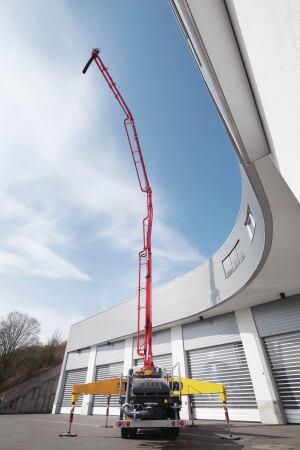 Putzmeister Truck-Mounted Boom Pump| Concrete Construction